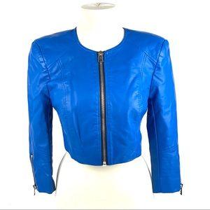 Bebe Faux Leather Cropped Jacket